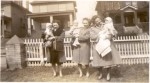 1947 The Aunts and Grandma Panzini hold George, David and Frank
